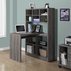 Dark Taupe Reclaimed Look Left/ Right Facing Corner Desk - Overstock™ Shopping - Great Deals on Desks
