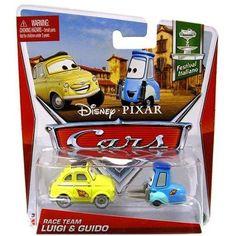 Disney Cars Series 3 Race Team Luigi & Guido 1:55 Diecast Car 2-Pack - Walmart.com