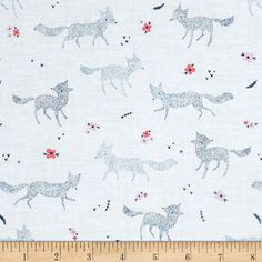 From Dear Stella, this cotton print fabric features playful foxes enjoying the winter snow. Perfect for quilting, apparel and home decor accents. Colors include white, pink, coral and shades of blue.