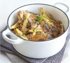 Honey mustard chicken pot with parsnips