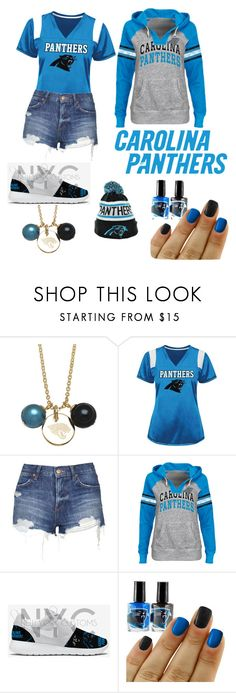 """Carolina Panthers Women"" by jenny-malik19 ❤ liked on Polyvore featuring Honora and Topshop"