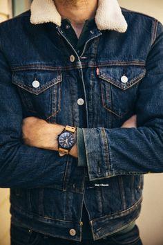 mens jeans on sale Sherpa Denim Jacket, Denim Jacket Men, Men's Denim, Levis Jacket, Mens Casual Jeans, Men Casual, Mode Man, Estilo Jeans, Mein Style
