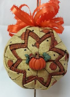Autumn / Fall Handmade Quilted Ornament by MrsClausOrnamentShop