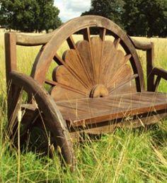 Unusual garden bench