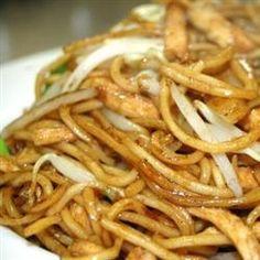 Spicy Chicken Chow Mein Noodles