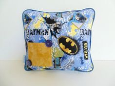 Batman SuperHero Blue Boys Tooth Fairy Pillow