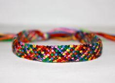 Rag Rug Friendship Bracelet by SugaPlums on Etsy, $8.00