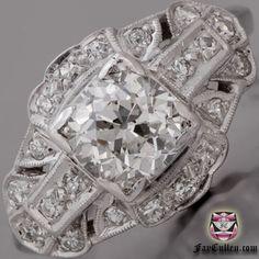 European Diamond Engagement Ring - GIA H/VS Diamond
