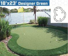 x diy backyard putting green Putting Green Turf, Home Putting Green, Artificial Putting Green, Outdoor Putting Green, Practice Putting Green, Artificial Turf, Golf Green, Golf Putting, Golf Tips