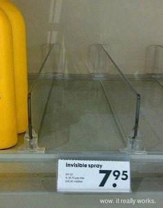 Invisible spray...