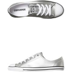 official photos b147b c54e2 Womens Converse Chuck Taylor All Star Dainty Shoe Silver Cotton (1.005.840  IDR)