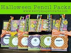 Halloween Pencil Packs -- Kerry's Paper Crafts Blog