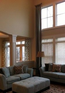 two story family room curtains living rooms eye and home tours on 8608