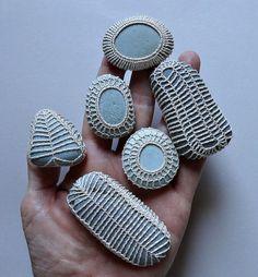 Miniature Art Handmade Crochet Lace Stone Original Tiny by Monicaj Crochet Gifts, Crochet Doilies, Crochet Lace, Crochet Stone, Rock Painting Ideas Easy, Rock Decor, Rock Crafts, Fabric Jewelry, Learn To Crochet