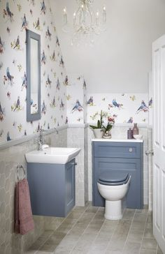 Utopia is the UK brand leader in fitted bathroom furniture. View our large range of bathroom furniture and find your nearest retailer today. Small Wet Room, Small Toilet Room, Small Rooms, Small Space, Fitted Bathroom Furniture, Bathroom Design Small, Bathroom Ideas, Navy Bathroom, Bathroom Remodeling