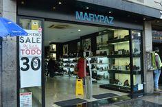 Entrada y rótulo tienda Marypaz (Madrid). Diciembre 2016