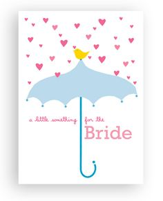 birdie umbrella card bride