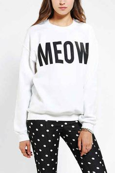 A basic meow sweatshirt. | 26 Things Every Aspiring Crazy Cat Lady Needs To Own
