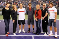 Lindsey Davenport, Steffi Graf, Pete Sampras, Roger Federer, Martina Navratilova, Andre Agassi, Rafael Nadal