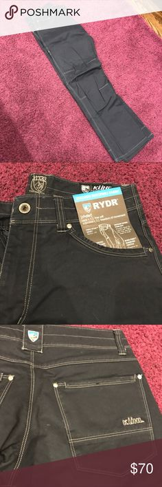 "Indigo Men's KÜHL RYDR™ PANT- NEW never worn Fabric: 98% Combed Cotton, 2% Spandex River washed for the ""lived in"" look. Relaxed fit to accommodate athletic thighs and hips. Cell phone pocket helps keep you organized. A KÜHL exclusive fabric that will not shrink. Machine wash. Easy care. Kuhl Pants Cargo"