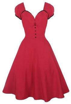 Amazon.com: Lindy Bop Bella Classy Vintage 1950s Rockabilly Style Raspberry Pink Swing Party Jive Dress: Clothing