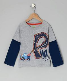 Take a look at this Gray Truck 'Pull' Layered Tee - Infant & Toddler by Watch Me Grow on #zulily today!