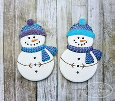 Snowman cookies by Dorothy Donn