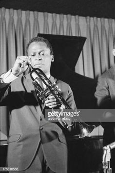 American jazz musician and composer Miles Davis with his instrument on stage, New York, New York, May Get premium, high resolution news photos at Getty Images Beautiful Old Woman, Black Is Beautiful, Billie Holiday, Walter White, Miles Davis, Jazz Musicians, Still Image, Older Women, Stage