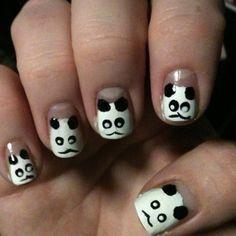 Pandas. Nail Art, Nails, Quotes, Beauty, Pandas, Finger Nails, Quotations, Ongles, Nail Arts