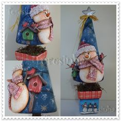 Teresinha Paczkowski: biscuit country, Christmas, polymer clay
