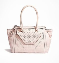 NEW GUESS PINK STUDDED TOUGH LUV TAWNY SATCHEL HANDBAG BAG PURSE  GUESS   Satchel 8021c0fcd60d9