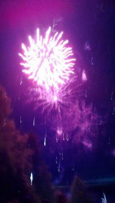 Firework over Pyhäjärvi in Karkkila 21st of July, 2013