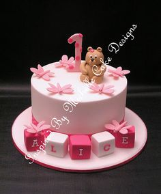 1st birthday girl ideas cake | ... 1st birthday cake. Inspired By Michelle Cake Designs www