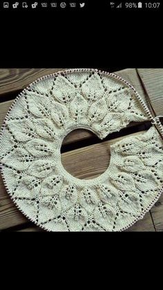 """diy_crafts- Punto De Hojas Redondo Tissue, Tissue, Of Agujas """"Discover thousands of images about Punto De Hojas Redondo """", Bind Off Knitting, Knitting For Kids, Lace Knitting, Knitting Stitches, Baby Knitting Patterns, Shawl Patterns, Crochet Patterns, Baby Girl Jackets, Diy Crafts Crochet"""