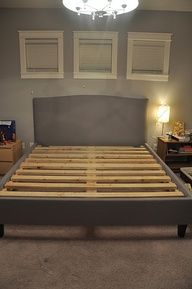 diy bed frame. This will be good to know when the military movers break my furniture :)