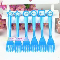 热卖环保儿童生日聚会派对用品 生日餐具蛋糕叉 卡通叉子6个装-淘宝网