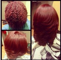 #teamnatural Colored & flat ironed hair