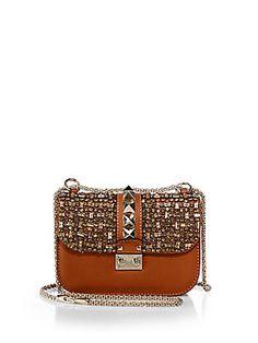 Valentino Embellished Glam Lock Shoulder Bag, $3045