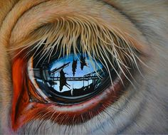 Jackson Thilenious....painting.....so sad what the cow see's ?......