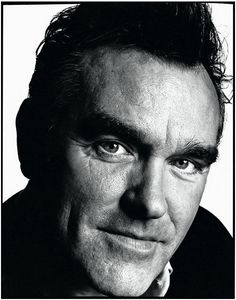 Morrissey Photograph by David Bailey  In this photo there is soft light being used. I think they have used an umbrella to reflect light onto the model.