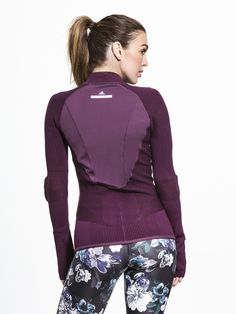 Run Engineered Knit Jacket by ADIDAS BY STELLA MCCARTNEY in Rich Plum