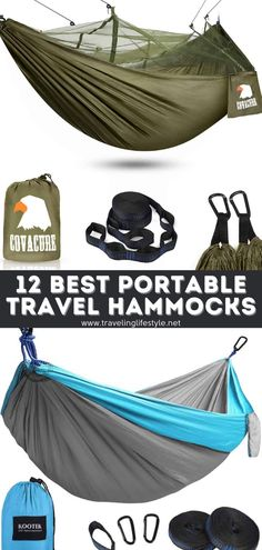 Travel hammock is one of the best ways to boost your backpacking trip experience around the world. It gives a sense of immense freedom and truly connects us with nature. They are easy to set up, pack up, and small enough to keep in our backpack. #travelhammocks #travelgear #backpacking Camping Ideas, Camping Hacks, Travel Ideas, Travel Tips, Best Travel Gadgets, Backpacking Gear, Packing Lists, Best Places To Travel, Backpacker