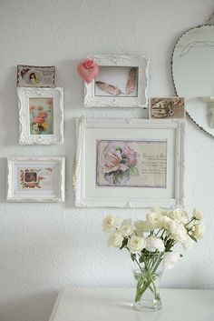 white....why have I not painted all my frames white?