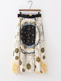 Fashion Scarf Print Long Pleated Skirt – streetstyletrends   jeans skirt outfit how to wear skirt skirt styles  #outfitwithskirt#winterskirtoutfits#skirtshoes#skirtandtopoutfits#stylesskirts