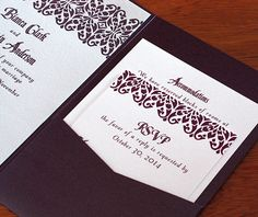 You will love the look of our invitation designs crisply printed on our recycled stock.