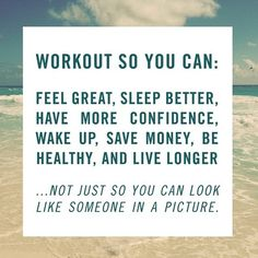Such a great reminder that being healthy is so much more important than looking a certain way. #BeHealthy