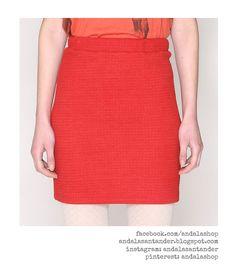 Falda entallada 39.90 € Rojo