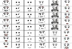Template for Lego Minifigure Faces
