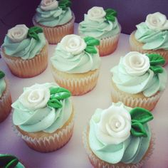 Cupcakes for a wedding shower.