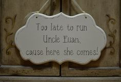 Wedding Sign Cottage Chic Ring Bearer / Flower Girl by kimgilbert3, $29.00
